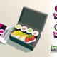 Etude logo pour packaging de sushis