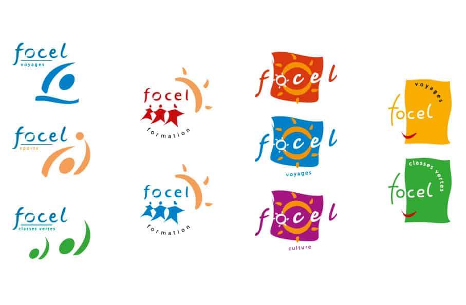 études de logos ppur la Focel de Seine-et-Marne