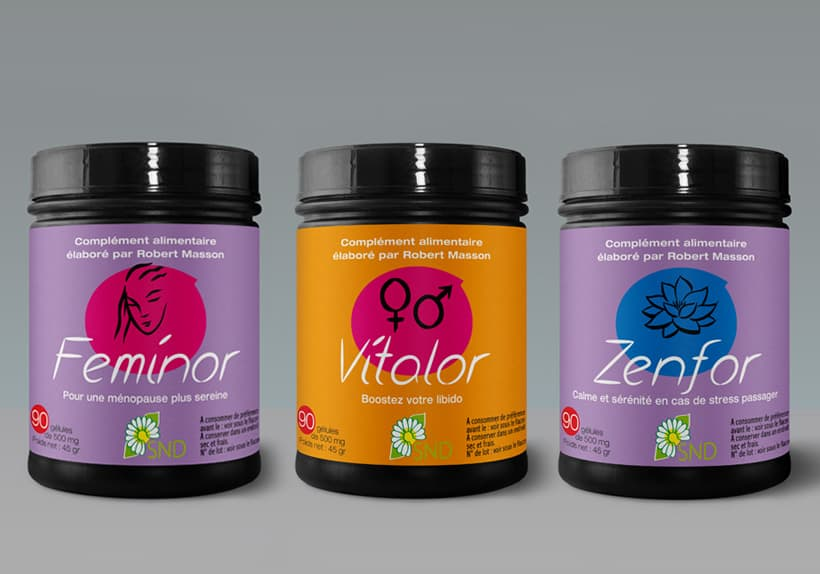 pots feminor vitalor zenfor, les compléments alimentaires de robert masson, naturopathe