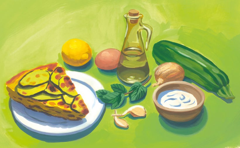 illustration recette flan aux courgettes parc naturel du gâtinais français