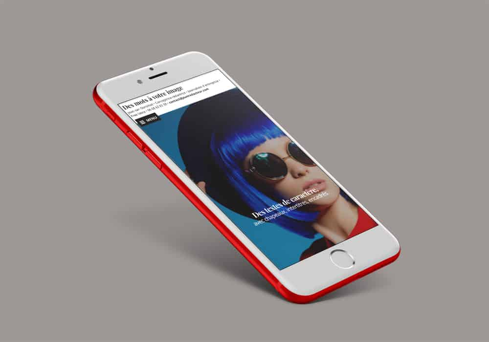 IPhone avec site joanredacteur.com