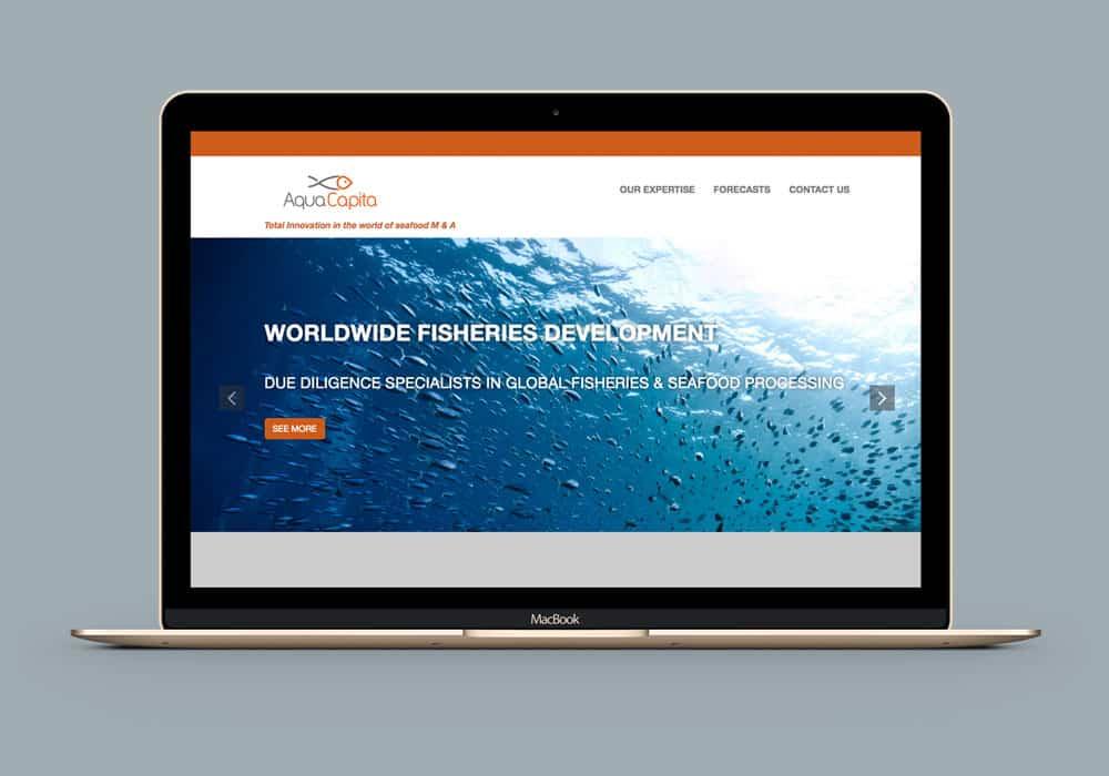 image écran Mac portable site web internet aquacapita