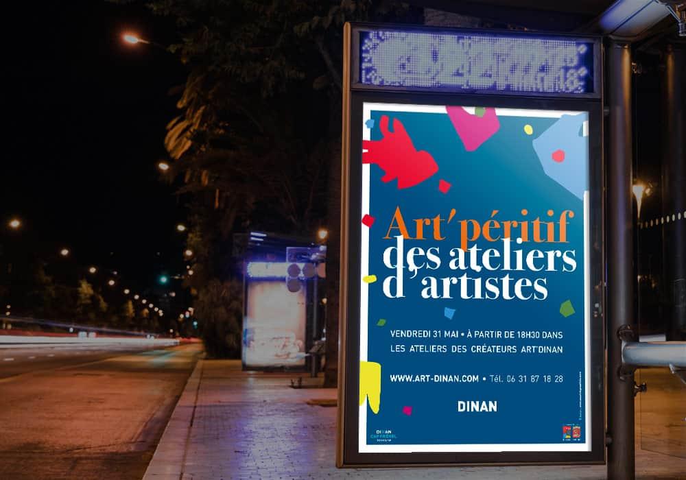affiche créateurs artistes art dinan