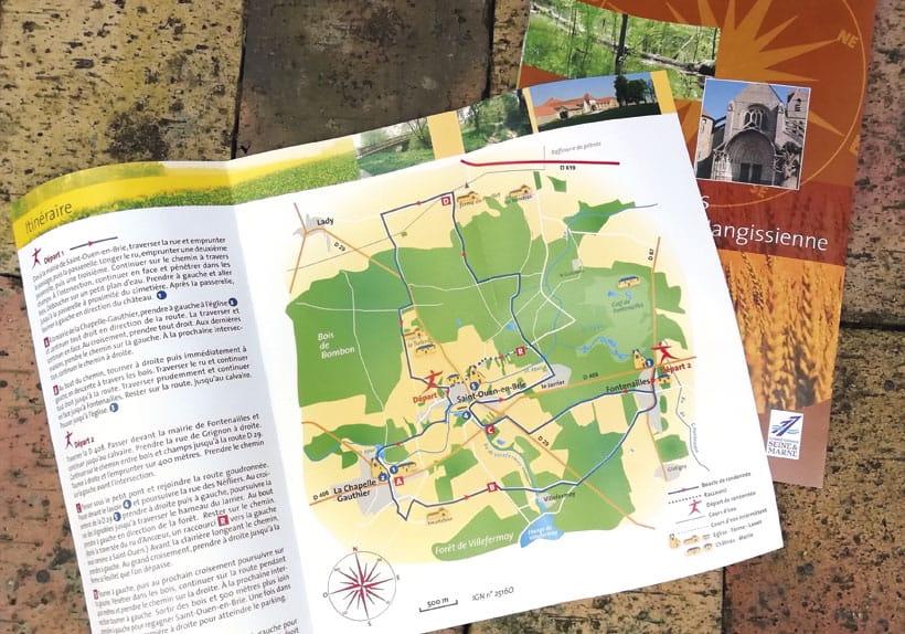 carte randonnée brie nangissienne saint-ouen-en-brie