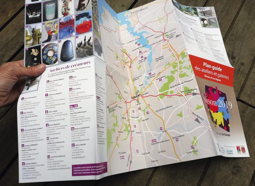 plan guide galeries créateurs artistes art dinan