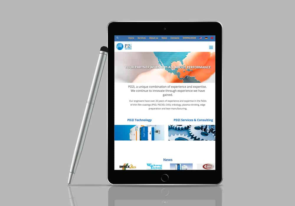 Site internet société PD2i