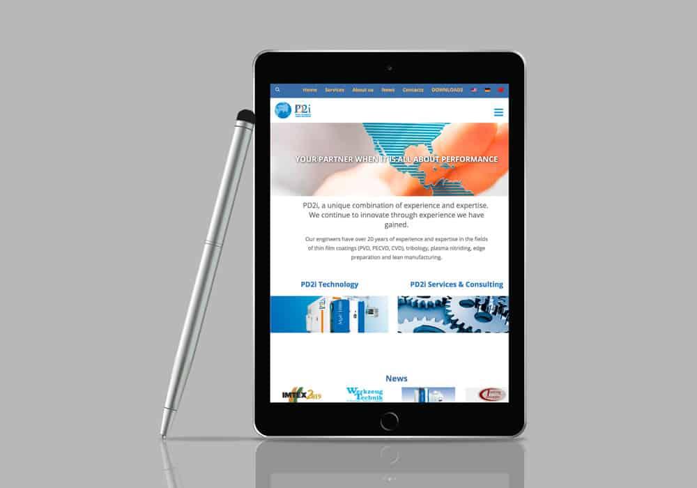 IPad site internet société PD2i