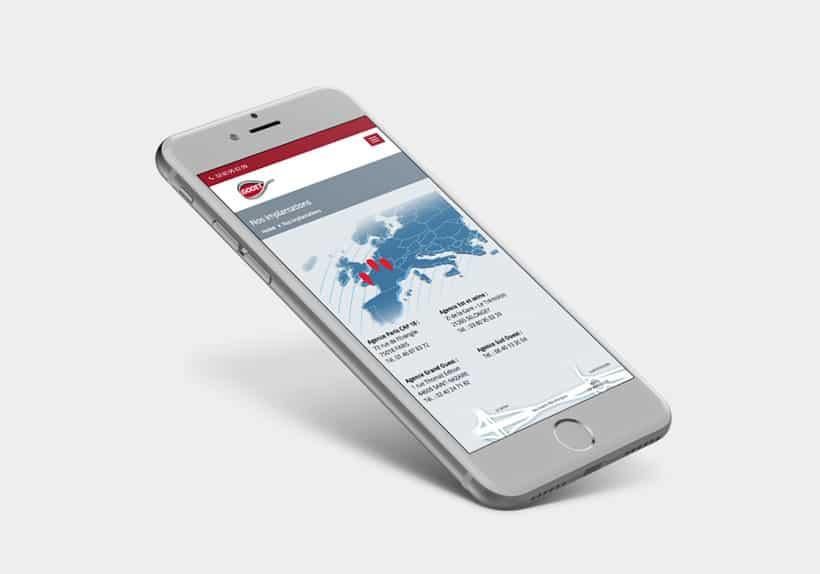 Iphone page Nos implantations site internet godet.fr