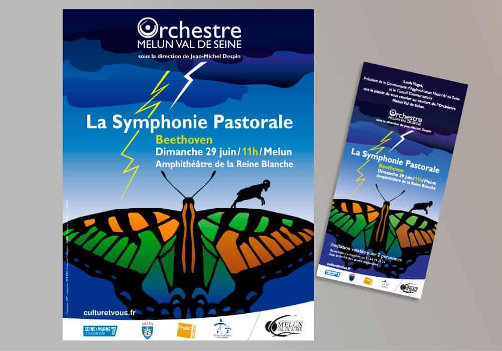 affiche symphonie pastorale orchestre melun val de seine