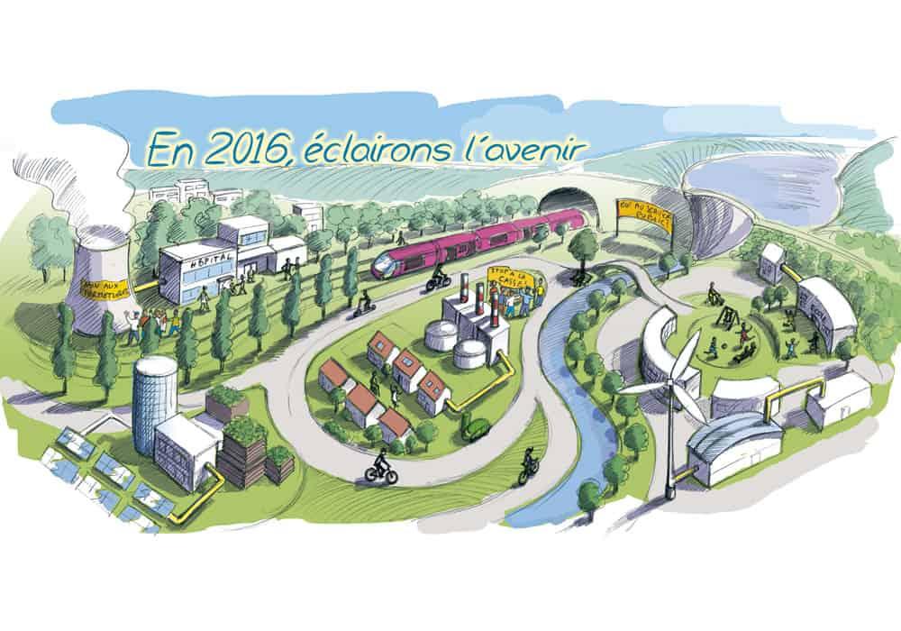 Carte de vœux du CCE EDF