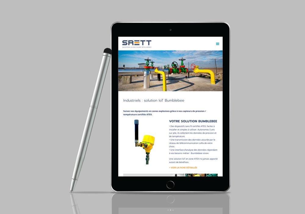 Srett, un site pour solutions IoT